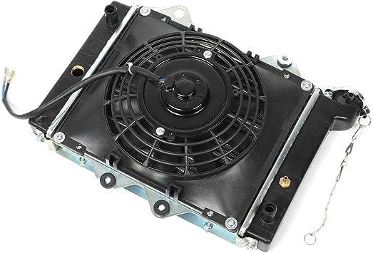 Radiateur de VTT ventilateur de refroidissement par eau de radiateur remplacement de ventilateur de refroidissement de radiateur pour 200CC 250CC 300CC 400CC Quad Dirt Bike Buggy EGL ATV