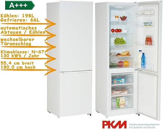 PKM kg, 280 W independiente nevera y congelador/A + + +/264 L ...