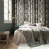 "HaokHome 151033 Vintatge Birch Tree Wallpaper Rolls Black/Green/Grey Forest Wood Designer Home Interior Decoration 20.8"" x 393.7"""
