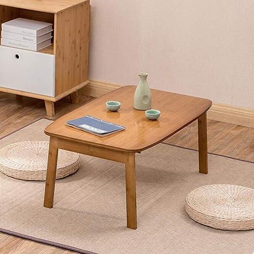 FENGFAN Mesa Auxiliar de bambú Natural Plegable portátil Cama sofá ...