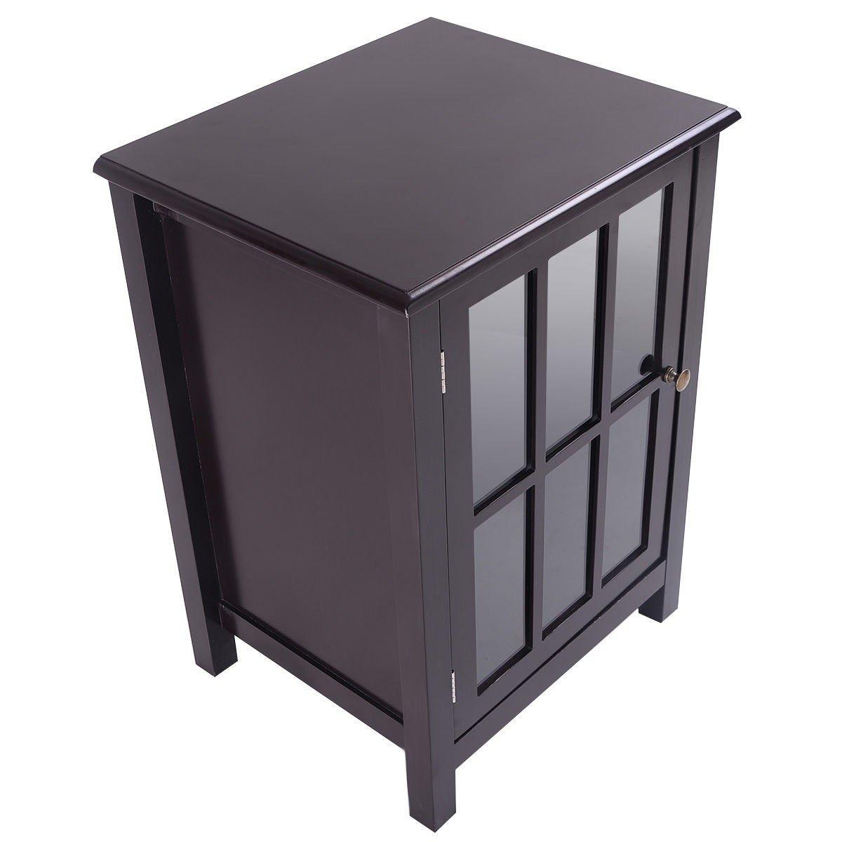 MyEasyShopping Door Storage Single Cabinet Pantry Organizer Kitchen Cupboard Furniture Shelves Home Wood Office Shelf Bathroom Display Adjustable Locker