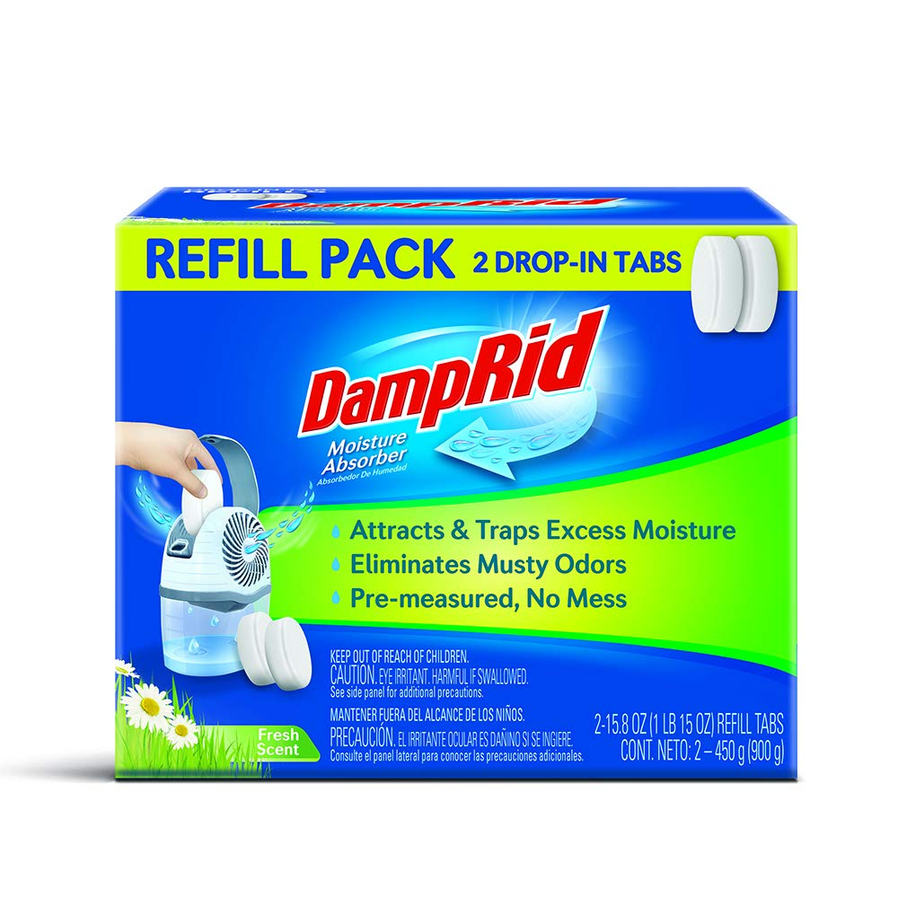 DampRid Drop-in Tab Refill Pack Moisture Absorber Fresh Scent