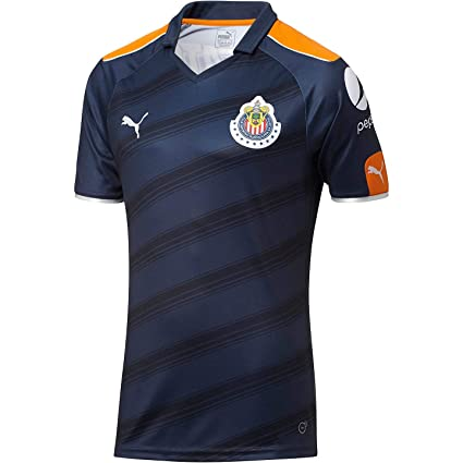 60cc25823 Amazon.com   PUMA Chivas ALTERNATIVE Replica Jersey  BLUE    Sports ...