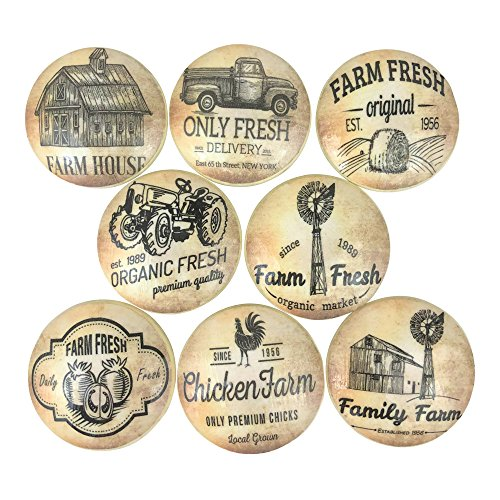 (Set of 8 Vintage Farmhouse Wood Cabinet Knobs)