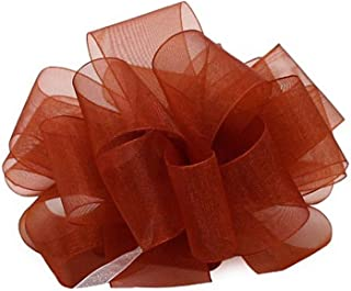 "product image for Offray Berwick LLC 135747 Berwick Simply Sheer Asiana Ribbon - 1-1/2"" W X 100 yd - Rust Ribbon"