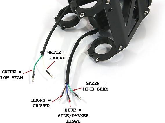 47mm Forcelle Streetfighter Moto Doppio Impilati Proiettore Faro Set Emarked per 46mm