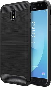 Simpeak Funda Compatible con Samsung Galaxy J7 2017, Funda Compatible con Samsung J7 2017 Carcasas Compatible con Galaxy J7 2017 Cases Suave TPU Anti Deslizamiento(5,5 Pulgadas),Negro: Amazon.es: Electrónica