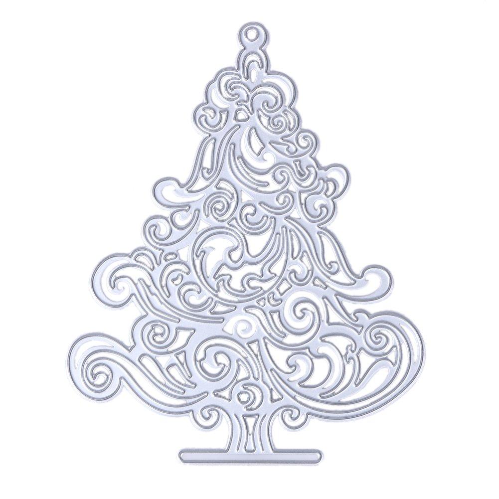 Demiawaking, stencil a forma di albero di natale per fai da te, album dei ricordi, biglietti di Natale