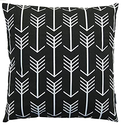JinStyles Cotton Canvas Arrow Accent Decorative Throw Pillow Cover (Square)
