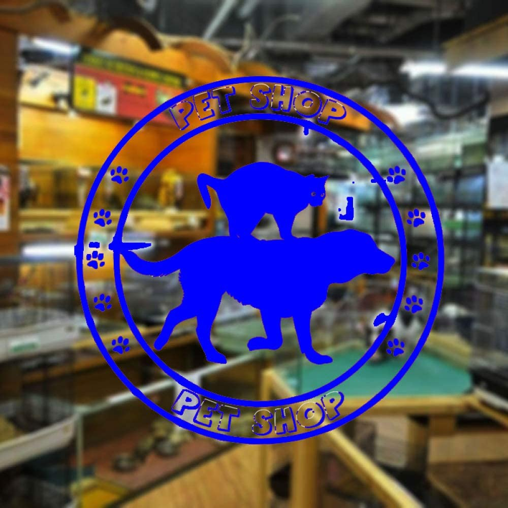 yaoxingfu Pet Shop Window Decal Extraíble Home Decor Wall Sticker ...