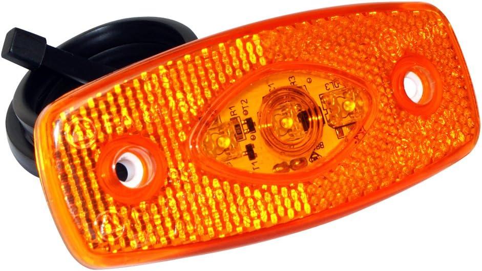 Arancio Luce laterale a LED con supporto e sistema di aggancio rapido colore LAS 10146