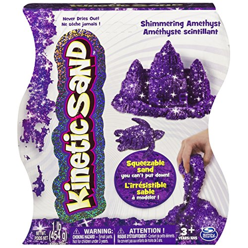 Kinetic Sand The One and Only, 1lb Shimmering Purple Amethyst Magic Sand for Ages 3 and Up ()