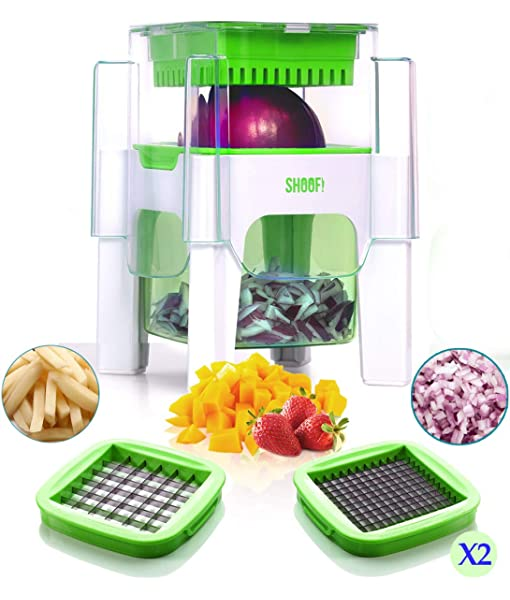 Green Veggie Spiralizer Slicers Home Restaurant Kitchen Dicer f//Fruits /& Veg
