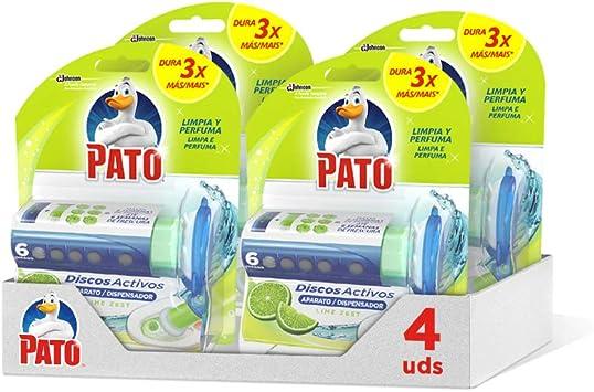Pato - Discos Activos WC Lima, aplicador y recambio con 6 discos [Pack de 4][Todos los aromas]: Amazon.es: Alimentación y bebidas