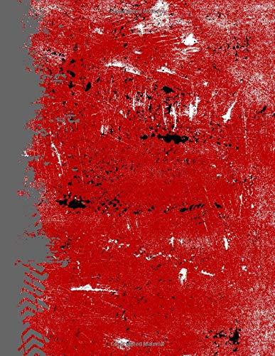 Scarlet Gray And Black: (8.5x11 Dot Grid) Blank Journal Grunge School Color Notebook por Belle Journals