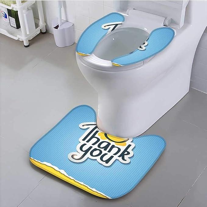 Aolankaili Universal Toilet Seat Doodle Decor Blue