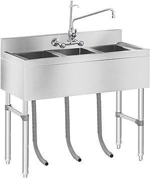 Royal Catering Rchs 5 Lavello In Acciaio Inox Industriale 3 Vasche Amazon It Fai Da Te