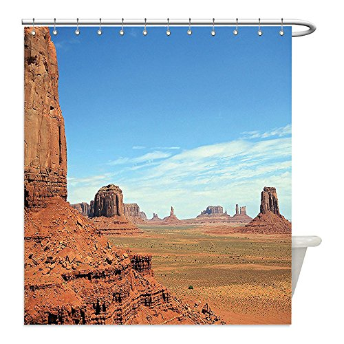 Wild West Costume Ideas Diy (Liguo88 Custom Waterproof Bathroom Shower Curtain Polyester Room American Decor Scenic View of Monument Valley Sandstone Butte Rocks Wild West Desert Landscape Image Brown Blue Decorative bathroom)