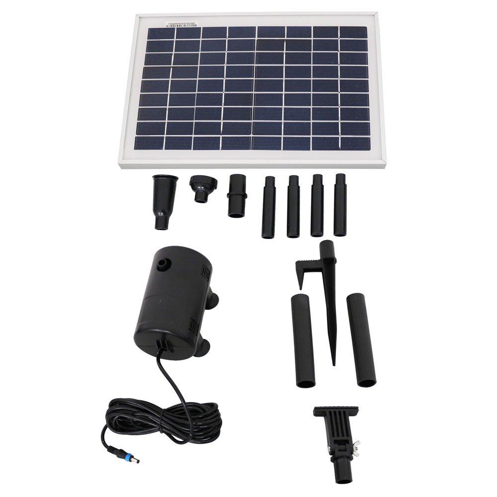 Sunnydaze Solar Pump and Solar Panel Kit with 2 Spray Heads, 200 GPH, 80-Inch Lift by Sunnydaze Decor