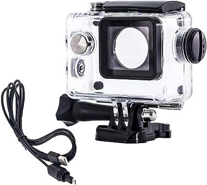 ウェアラブルカメラ汎用式 オートバイ用 防水ハウジングケース 常時給電