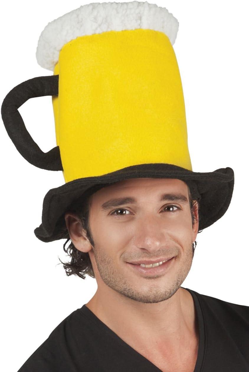 Boland 98996–Sombrero en forma de jarra de cerveza, color amarillo