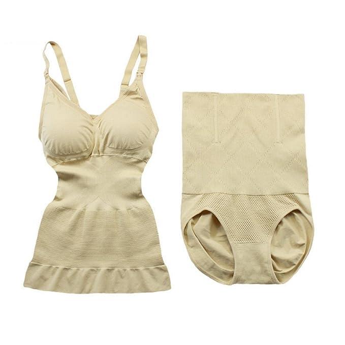 3aed2433f2400 Amazon.com  AVENBER Women 2 Pcs Overbust Full Body Simming Corrective Bodysuit  Waist Cincher Shapewear  Clothing