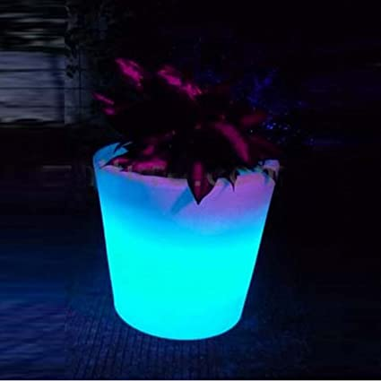 Amazon.com Glowing LED Flower Pots Plant Pots - Changeable Colors RGB Colors LED Planters Pots LED Vase Decoration for Home \u0026 Garden Party (Set of 2 ... : light up flowers in vase - startupinsights.org