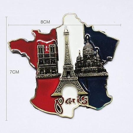 AGGIEYOU 2 unids 3D Torre Eiffel Imán de Nevera de Metal de París ...