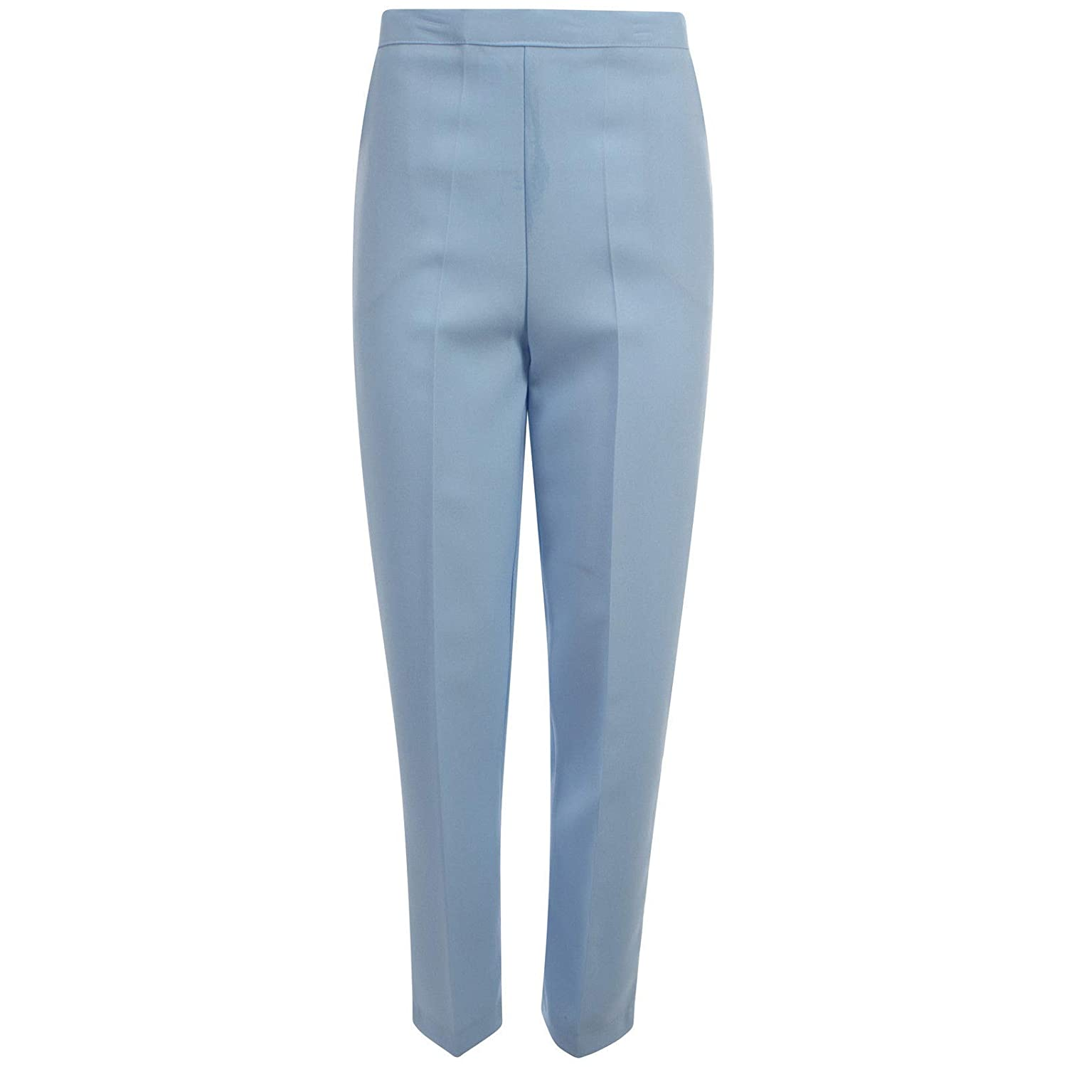 100% UK Made Ladies Half Elasticated Waist Trousers Pants