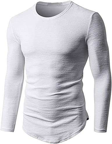 Rawdah_Camisetas De Hombre Manga Larga Camisas Hombre Manga Larga Polo Camisas De Hombre Manga Larga Camisetas Hombre Manga Larga Camisas De Hombre Talla Grande Camisetas De Hombres Marca Camisetas: Amazon.es: Ropa y