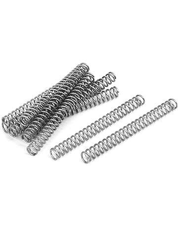 sourcingmap/® 0.3mm x 3mm x 40mm acier inoxydable 304 Ressorts tension Ton Argent 5pcs