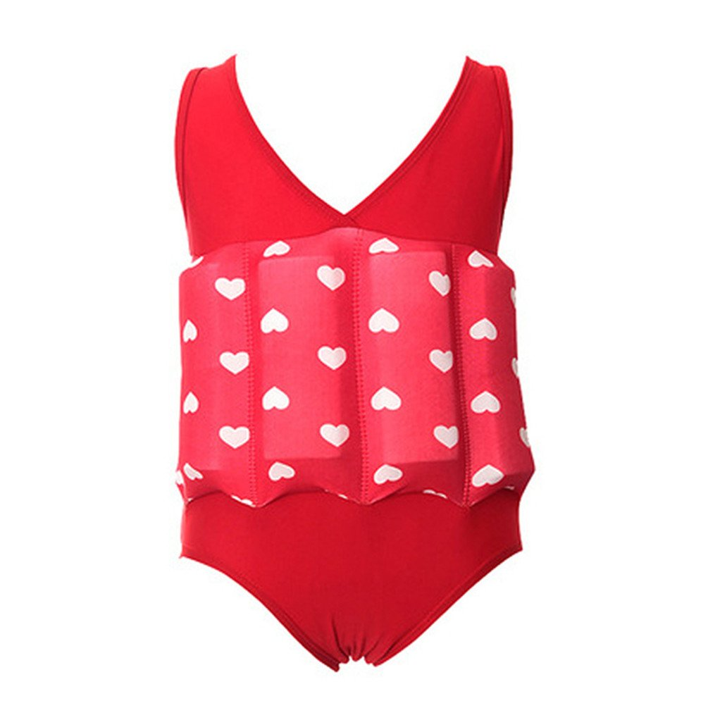 Ponce Fashion Toddler Baby Floating Vest Swimwear Detachable Buoyancy Swimsuit Training Set
