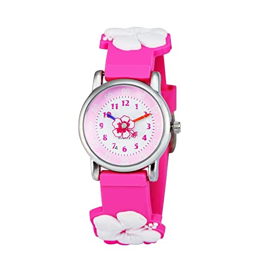 Children's Watches Kids Watches Child Time Learning Toys Flower Cute Children Watches Cartoon Silicone Digital Wristwatch Boys Girls Wrist Watches