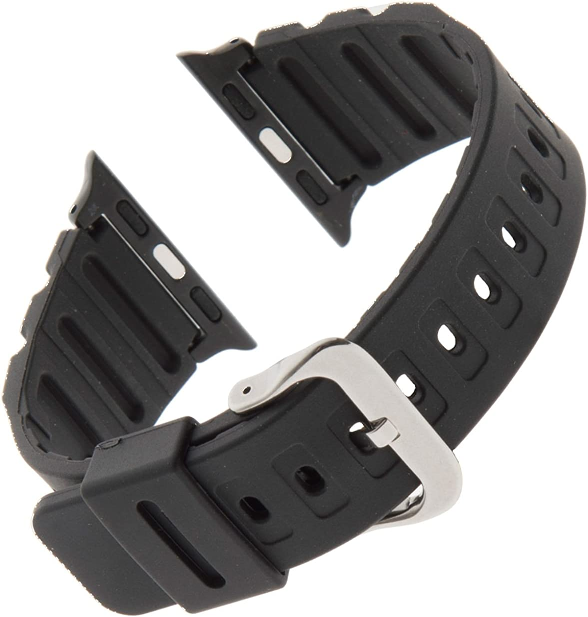 Gilden for Apple 38mm/40mm Extra-Long Black Waterproof Polyurethane Watch Band 017270-SMART