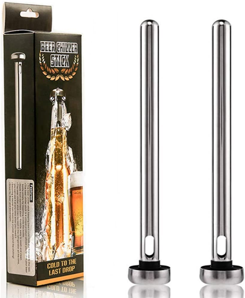 Beer Chiller Sticks, 2 Beverage Cooler Sticks, Unique Gift for Beer Lovers' Boyfriends and Colleagues, The Best Holiday Gifts.