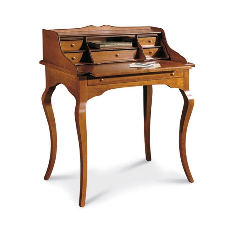 Scrittoio, stile classico, in legno massello e mdf con rifinitura ...