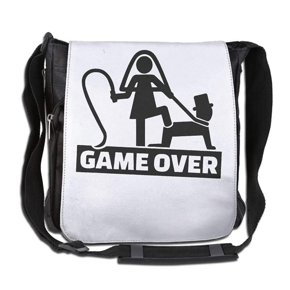 Wedding Couple Game Over For The Man Fashion Print Diagonal Single Shoulder Bag