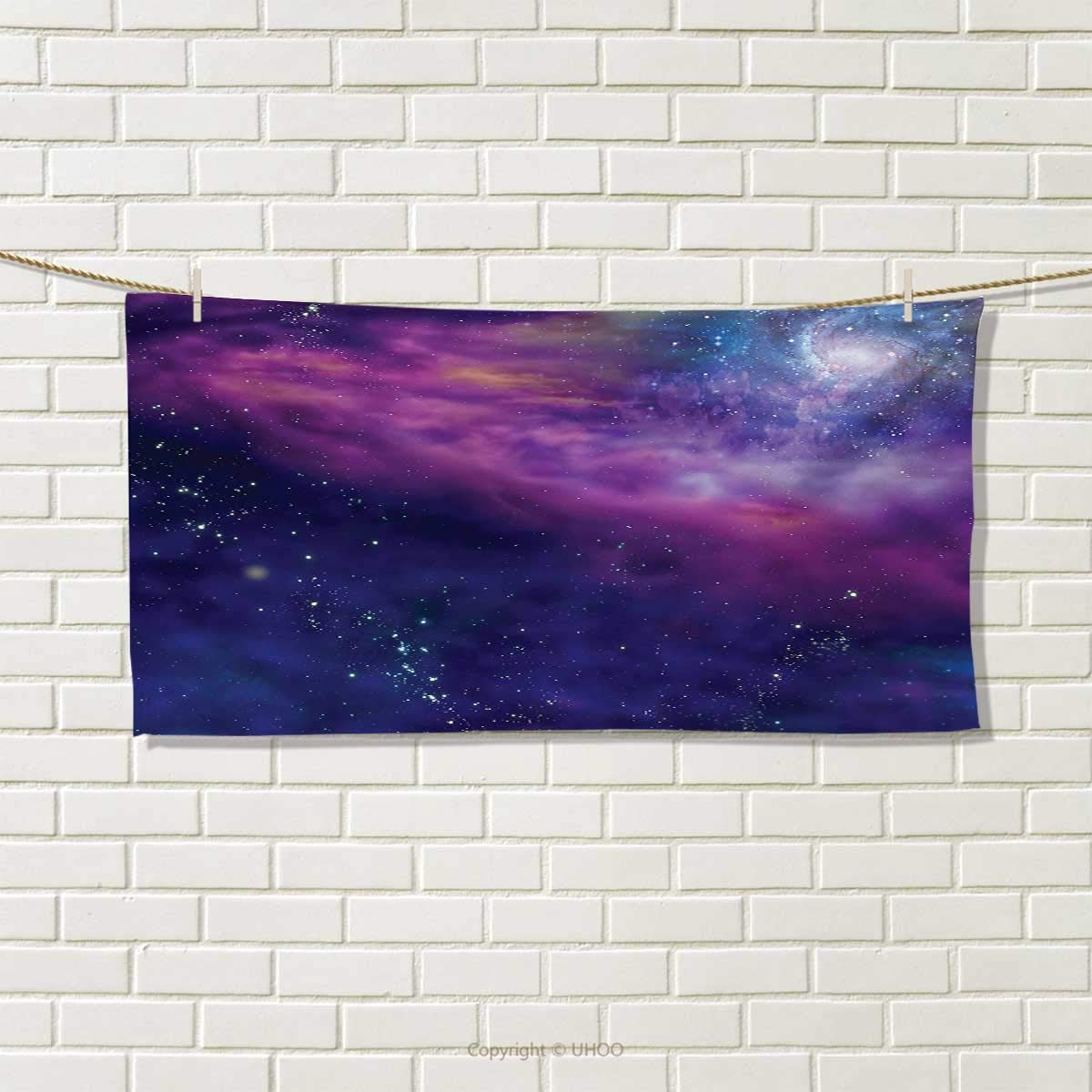 Chaneyhouse Outer Space,Hand Towel,Spiritual Dim Star Clusters Milky Way Inspired Circle Back with Solar Elements,Quick-Dry Towels,Purple Blue Size: W 20'' x L 20''