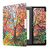 kwmobile Elegant synthetic leather case for the Kobo Glo HD (N437) / Touch 2.0 Design autumn tree in multicolor orange red