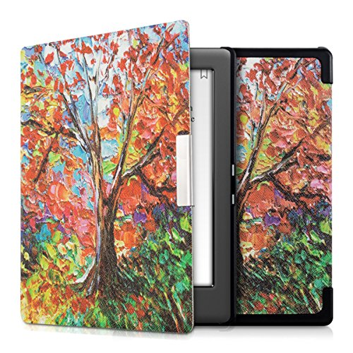 kwmobile Case Compatible with Kobo Glo HD/Touch 2.0 - Case e-Reader Cover - Autumn Tree Multicolor/Orange/Red