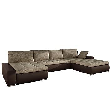 Moderne polsterecke  Großes Design Ecksofa Caro, Elegante U-Form Couch, Eckcouch mit ...