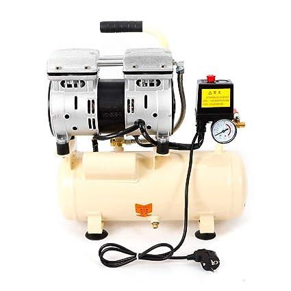 OUKANING Compresor de aire silencioso, compresor de aire, caldera de 8 L, 550
