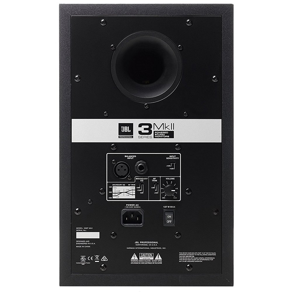 JBL 306P MkII 6.5'' Studio Monitoring Speakers (Pair) w/AxcessAbles Studio Monitor Stands and Studio Cables by JBL Professional (Image #5)
