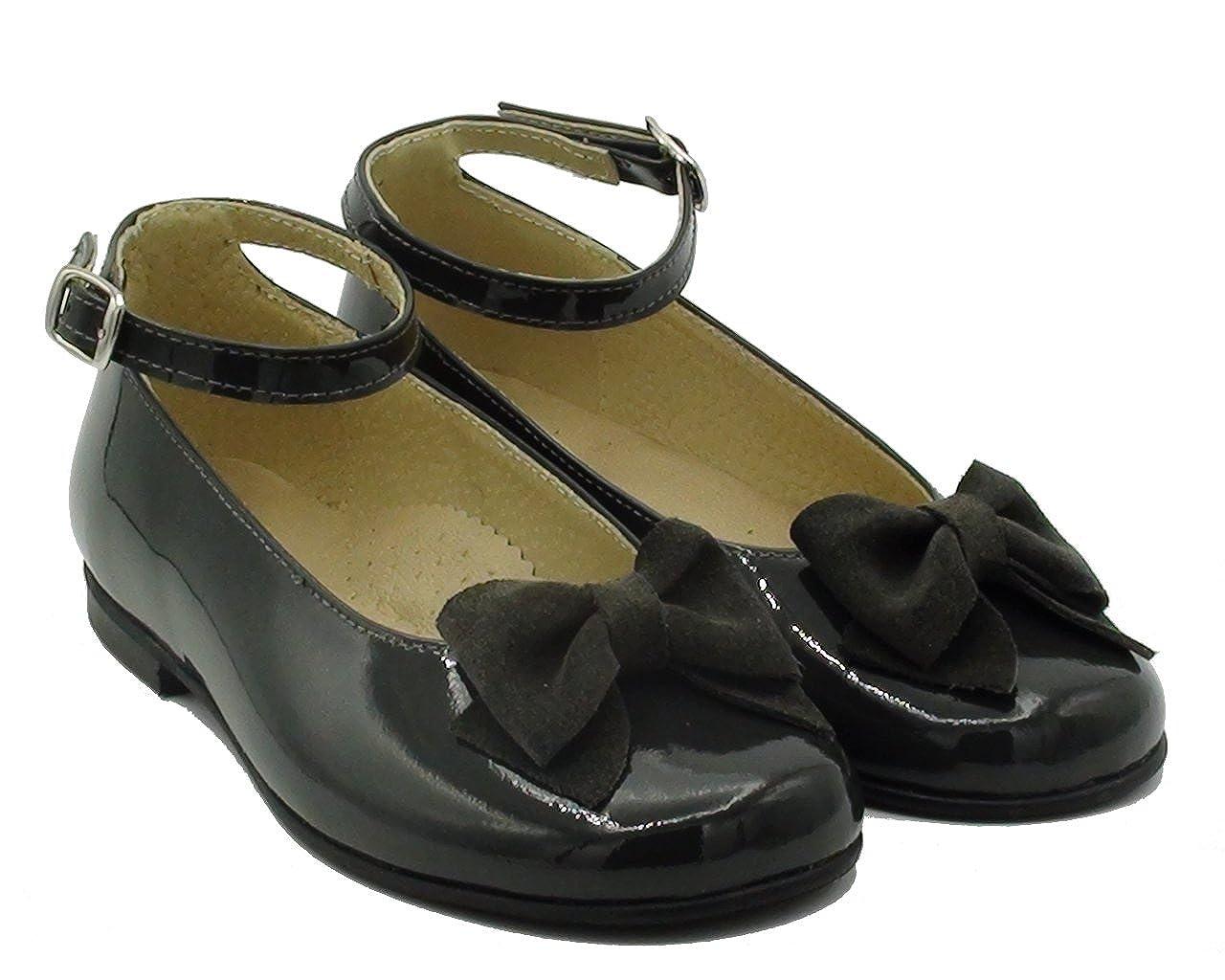 ZAPATO NIÑA CON PULSERA Y LAZO E1911 CHAROL GRIS: Amazon.es: Zapatos ...