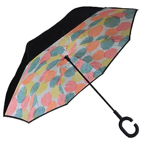 LP Grasa Único diseño Doble Capa Paraguas invertido Fuera en ...