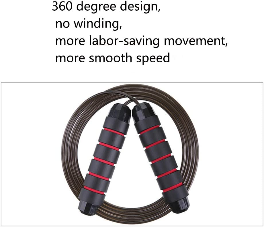 Women Adjustable Jumping Ropes for Men Jump Rope-Jump Ropes for Fitness,Ball Bearings Tangle-Free Rapid Speed Cable Skipping Rope