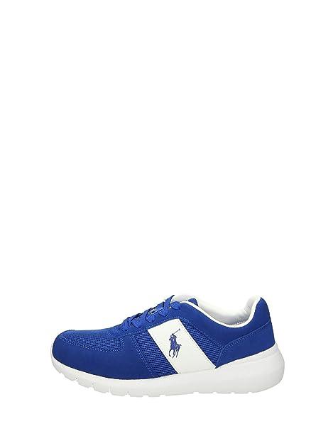 POLO RALPH LAUREN scarpe uomo sneakers basse A85 XZ4ZS XY4ZS XW4RL CORDELL  taglia 44 Blu elettrico  Amazon.it  Scarpe e borse 69b04c3322e