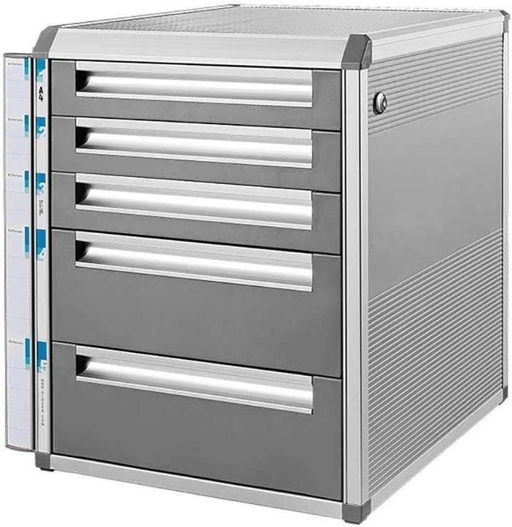 12.6in14in16in Office Supplies File cabinet Aluminum Alloy File Cabinets-with Lock Data Storage Cabinet Office Storage Drawer File Box