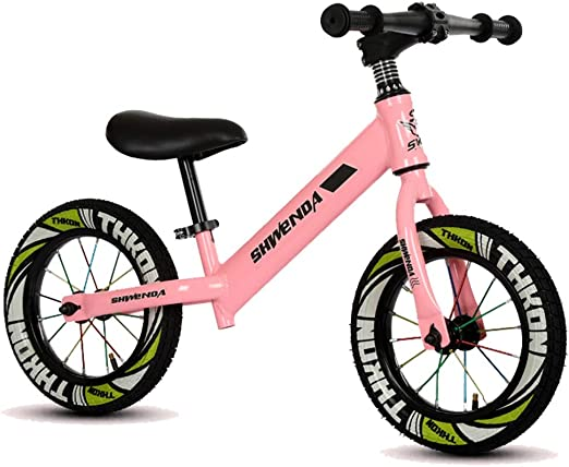 Bicicleta sin pedales Bici Bicicleta Negra/Verde/Rosa Balance ...