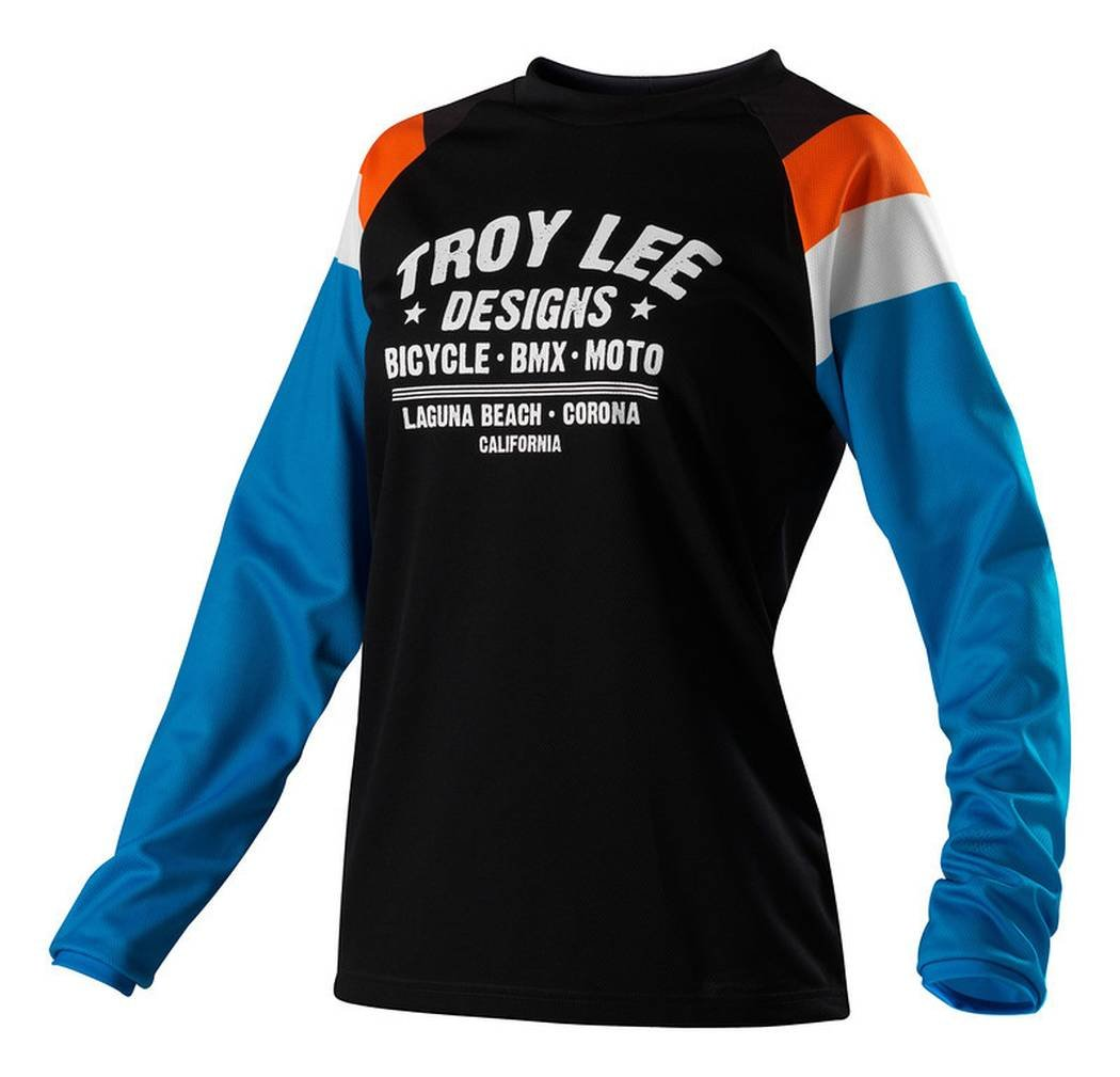 Troy Lee Designs Womens Rev Jersey Medium//Black